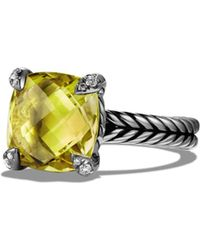 David Yurman - Châtelaine Ring With Lemon Citrine And Diamonds - Lyst