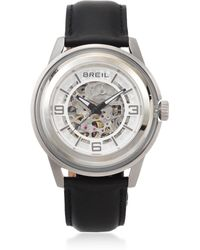 Breil - Automatic Stainless Steel And Glass Watch - Lyst