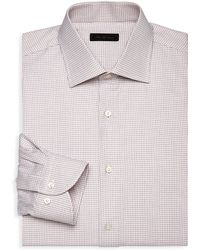 Saks Fifth Avenue - Collection Check Cotton Dress Shirt - Lyst