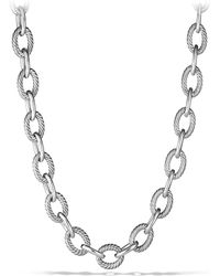 "David Yurman - Oval Extra-large Link Necklace/18"" - Lyst"