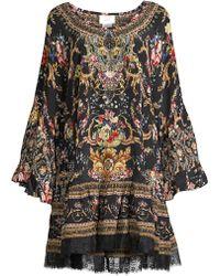 Camilla - Embellished Silk Minidress - Lyst