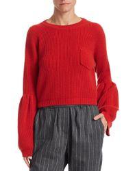 Brunello Cucinelli - Cashmere Cropped Sweater - Lyst