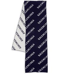Balenciaga Logo Scarf - Blue