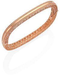Roberto Coin Princess 18k Rose Gold Bangle Bracelet - Metallic
