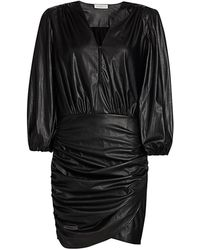 Ramy Brook Ines Faux Leather Dress - Black