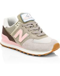 New Balance - Patchwork Suede Sneakers - Lyst