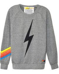 Aviator Nation Bolt Chevron Crew Sweatshirt - Gray