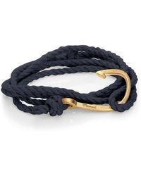 Miansai   Brass Hook Rope Bracelet   Lyst