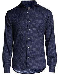 Canali Medalion Button-down T-shirt - Blue