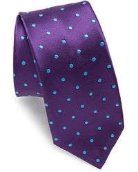 Ike Behar | Purple Dots Silk Tie | Lyst