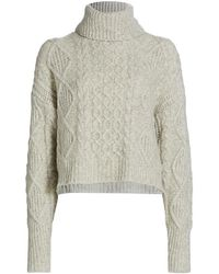 NSF - Rosae Cable Knit Sweater - Lyst