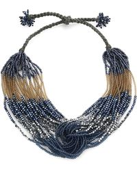 Marina Rinaldi - Levante Beaded Statement Necklace - Lyst