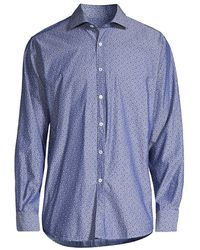 Canali - Floral-print Sport Shirt - Lyst