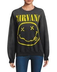 MadeWorn - Nirvana Cotton Sweatshirt - Lyst