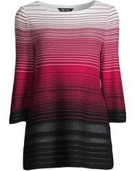 Misook Ombr Striped Knit Tunic - Multicolor