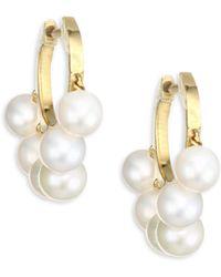 Sydney Evan - Freshwater Pearl Huggie Earrings - Lyst