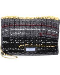 Prada | Knit Wool Chain Clutch | Lyst