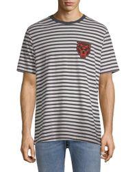 DIESEL - Stripe Graphic T-shirt - Lyst