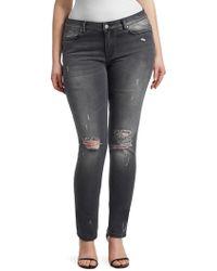 Marina Rinaldi - Distress Skinny Jeans - Lyst