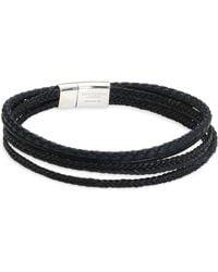 Tateossian - Cobra Leather Bracelet - Lyst