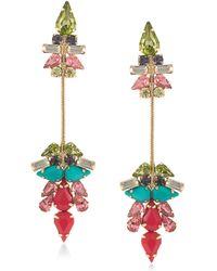 ABS By Allen Schwartz - Sun Daze Linear Crystal Drop Earrings - Lyst