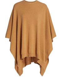 Halston Kelly Merino Wool & Cashmere Poncho - Metallic