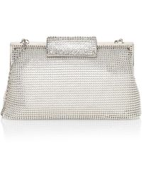 Whiting & Davis - Crystal Clasp Mesh Pouch - Lyst
