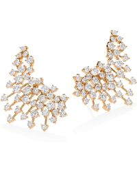 Hueb - Luminus Diamond & 18k Yellow Gold Ear Cuffs - Lyst