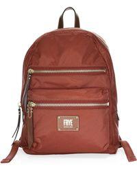 Frye - Ivy Nylon Backpack (pewter Metallic) Backpack Bags - Lyst