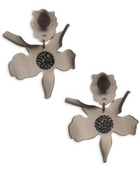 Lele Sadoughi - Concrete Jungle Crystal Lily Clip-on Earrings - Lyst