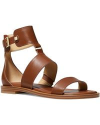 MICHAEL Michael Kors Amos Leather Gladiator Sandals - Brown