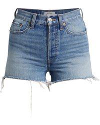 RE/DONE 70s High-rise Denim Shorts - Blue