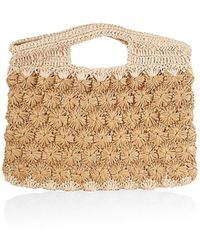 Carrie Forbes Ruby Synthetic Raffia Tote Bag - Natural