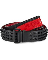 Christian Louboutin Loubi Spiked Leather Belt - Black