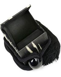 Carolina Santo Domingo Eva Metallic Mesh Box Bag - Black