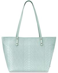 Gigi New York - Taylor Mini Python-embossed Leather Tote - Lyst