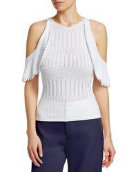 Jonathan Simkhai - Knit Cold Shoulder Top - Lyst