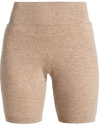 FRAME Cashmere & Wool Bike Shorts - Natural