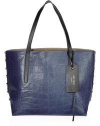 Jimmy Choo - Twist East West Croc-embossed Leather Tote - Lyst