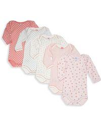 Petit Bateau - Baby's Five-piece Printed Bodysuit Set - Lyst