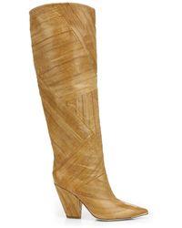 Tory Burch Lila 90mm Knee-high Boots - Brown