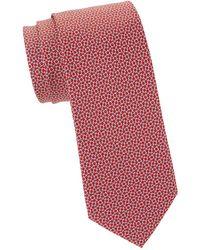 Ferragamo Mini Gancini Silk Tie - Red