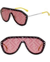 Fendi - 99mm Shield Sunglasses - Lyst
