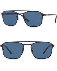 Burberry - 56mm Aviator Sunglasses - Lyst
