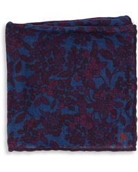 Isaia - Floral Wool Pocket Square - Lyst