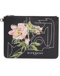 Givenchy Large Romantic Floral Leather Pouch - Multicolor