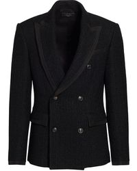 Amiri Boucle Double Breasted Blazer - Black