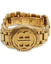 Balenciaga Time Antique Goldtone Bracelet - Metallic