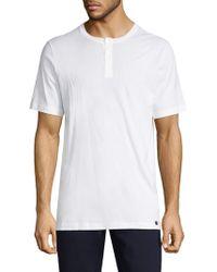 Hanro - Night & Day Short Sleeve Henley Shirt - Lyst
