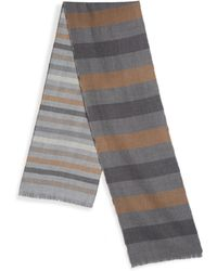 Saks Fifth Avenue - Collection Double-faced Merino Wool Stripe Scarf - Lyst